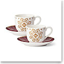 Lenox Global Tapestry Garnet Dinnerware Cup Saucer Set