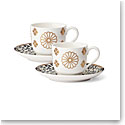 Lenox Global Tapestry Sapphire Dinnerware Cup And Saucer Set