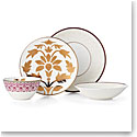 Lenox Global Tapestry Garnet Dinnerware 4 Piece Place Setting