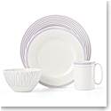 Kate Spade China by Lenox, Charlotte St East Lilac 4 Piece Place Setting