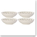 Lenox Textured Neutrals Dinnerware Gray All Purpose Bowl Set Of Four