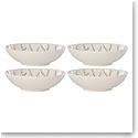 Lenox Textured Neutrals Dinnerware Gray All Purpose Bowl Set Of Four