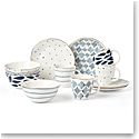 Lenox Blue Bay Dessert 12 Piece Set