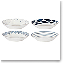 Lenox Blue Bay Dinnerware Pasta Bowls Assorted Set Of Four