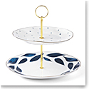 Lenox Blue Bay Dinnerware 2 Tiered Server
