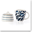 Lenox Blue Bay Dinnerware Creamer And Sugar Set