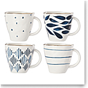 Lenox Blue Bay Dinnerware Dessert Mugs Set Of Four