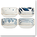 Lenox Blue Bay Dinnerware Square Snack Bowls Set Of Four