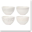 Lenox Textured Neutrals Dinnerware Fruit Bowl Set Of Four