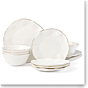 Lenox Blue Bay Dinnerware White 12Pc Set