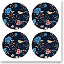 Lenox Sprig And Vine Dinnerware Salad Acc Plate Navy Set Of Four