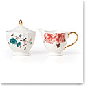 Lenox Sprig And Vine Dinnerware Sugar Creamer Set White