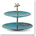 Lenox Sprig And Vine Dinnerware Tiered Server Turquoise
