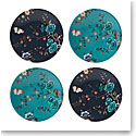 Lenox Sprig And Vine Dinnerware Tidbit Plate Navy Turquoise Set Of Four