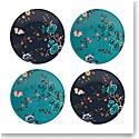 Lenox Sprig And Vine Dinnerware Tidbit Plate Navy Turquoise Set Of Four