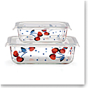 Kate Spade China by Lenox, Vintage Cherry Dot Rectangular Storage 2 Piece Set