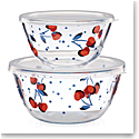 Kate Spade China by Lenox, Vintage Cherry Dot Round Serve and Store 2 Piece Set