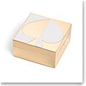 Kate Spade New York, Lenox Spade St Metal Keepsake Box White