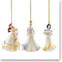 Lenox 2021 Disney Princess Mini Ornament Set of 3