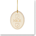 Lenox 2021 Naughty or Nice Ornament