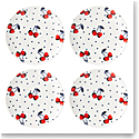 Kate Spade China by Lenox, Vintage Cherry Dot Accent Plate Set Of Four
