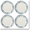 Lenox Blue Bay Dinnerware Dinner Plate Ikat Set Of Four