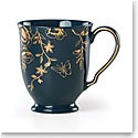 Lenox Sprig And Vine Dinnerware Footed Mug Navy, Single