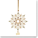 Lenox 2021 Annual Gemmed Snowflake Ornament