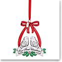 Lenox 2021 Our 1st Christmas Doves Metal Ornament