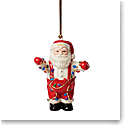 Lenox 2021 Santa Stringing the Lights Ornament