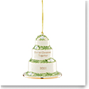 Lenox 2021 Our 1st Christmas Together Cake Dated Ornament