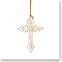 Lenox 2021 Snow Fantasies Cross Ornament