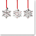 Lenox 2021 Mini Metal Snowflake Ornament Set of 3