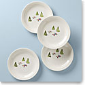 Lenox Profile Snow Day 4 Piece Day Accent Plate Set
