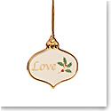 Lenox 2021 Holiday Sentiment Ornament Charm Love