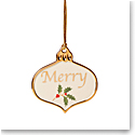 Lenox 2021 Holiday Sentiment Ornament Charm Merry
