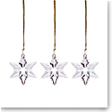 Lenox 2021 Mini Optic Snowflake Crystal Ornament Set of 3
