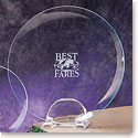 "Crystal Blanc, Personalize! 12"" Award Plate"