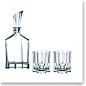 Nachtmann Aspen Decanter and Two Whiskey Tumblers, Set of 3