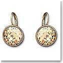 Swarovski Bella Pierced Earrings, Brown, Gold