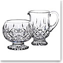 Waterford Crystal, Lismore Footed Sugar And Creamer
