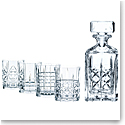 Nachtmann Highland Whiskey, Set, Decanter and 4 Whiskey Tumblers
