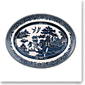 Johnson Brothers Willow Blue Oval Platter 13.75""