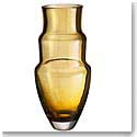 Orrefors Crystal, Art Piece Martti Rytkonen Artemis Crystal Vase Amber Ltd. Ed. 100