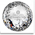 Waterford Crystal, 2017 MLB World Series Houston Astros Crystal Baseball Crystal Paperweight, Limited Edition