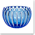 "Moser Crystal Century Bowl 9.8"" Aquamarine and White"