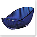 "Moser Crystal Seashell Bowl 13"" Wedges - Alexandrite and Blue"