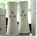 Belleek China Shamrock Large Salt and Pepper Set