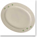 Belleek China Shamrock Large Oval Platter