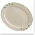 Belleek China Shamrock Small Oval Platter